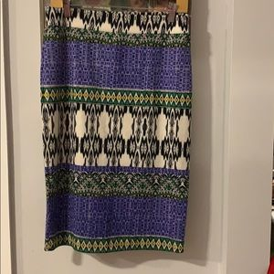 Renee c patterned skirt barely worn once